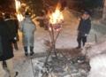 平成29年元旦の西野神社(篝火)