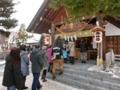 平成29年 西野神社の三が日(初詣参拝者の行列)