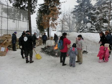 平成29年1月15日 西野神社どんど焼き