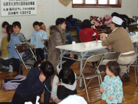 平成29年1月 西野神社 餅つき(福井記念館)