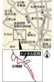 「盤渓北ノ沢トンネル」ルート図