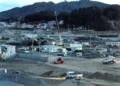 かさ上げ工事が進む岩手県山田町の中心部