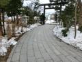 平成29年4月 西野神社境内の残雪