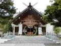 平成29年6月 西野神社の社殿と茅の輪