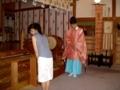 社殿での御祈祷の様子
