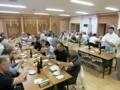 平成29年7月 地域代表者達との会議後の懇親会