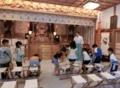 小学2年生9人が西野神社を見学に訪れました(平成29年8月)