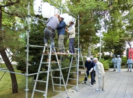 平成29年 秋まつり前日の準備風景