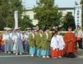 平成29年 西野神社 秋まつり(宮司・巫女・総代・地域代表者など)