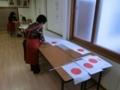 平成29年 西野神社敬神婦人会 国旗小旗作成作業