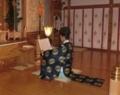 西野神社 松澤権禰宜(御祈祷中)