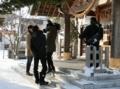 西野神社でのHTB「イチオシ!」撮影