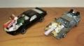 お正月飾りの実例(模型の車)