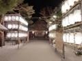 平成30年 西野神社正月(奉納提灯に照らされる参道)