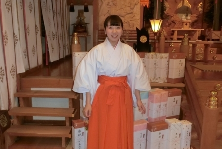 平成30年正月 西野神社助勤巫女(水野さん)