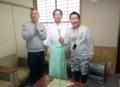 西野神社でSTVラジオ番組収録