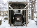 西野神社境内の焼却炉