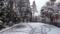 平成30年4月8日の降雪(札幌・西野神社境内)