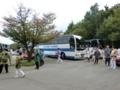 西野神社「担ぎ神輿」の担ぎ手の皆さん方に乗車して戴いたバス