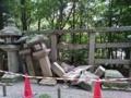 大阪府北部地震に於ける石清水八幡宮の被災状況