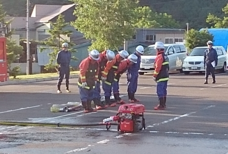 札幌市西消防団 西野分団の訓練(平成30年6月)