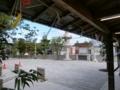 西野神社 授与所窓口前(平成30年7月)