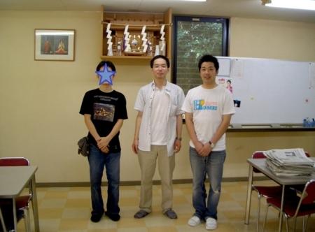 青雲寮の食堂にて撮影(平成19年8月)
