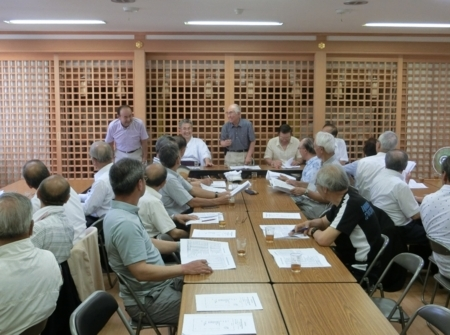 平成30年7月 地域代表者達との会議