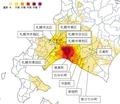 平成30年北海道胆振東部地震 震度一覧地図