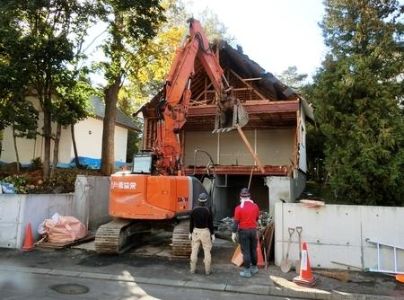 平成30年9〜10月 西野神社神楽殿 解体工事