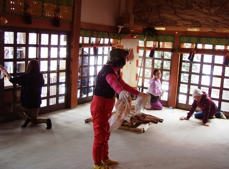 西野神社 煤払い(平成30年12月)
