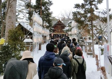 平成31年 西野神社 初詣の様子