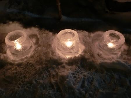 平成31年 西野神社正月(アイスキャンドル)