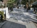 平成31年3月14日の西野神社境内