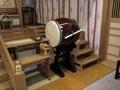西野神社拝殿の太鼓が新調されました