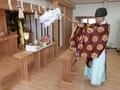 西野神社参集殿での人形供養の御祈祷