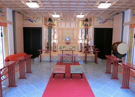 西野神社 儀式殿内(結婚式仕様)