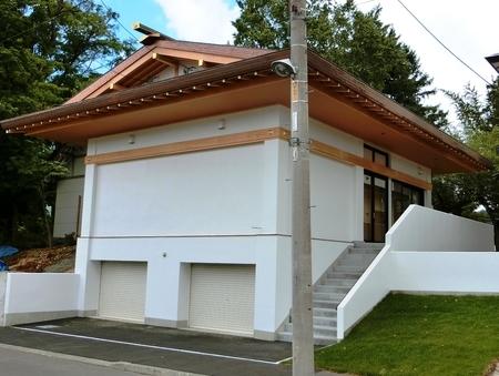 西野神社 儀式殿(裏側)