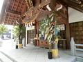 西野神社拝殿 七夕の青竹