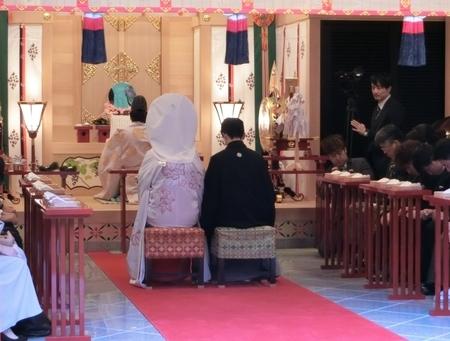西野神社儀式殿での神前結婚式