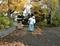 西野神社境内 清掃作業