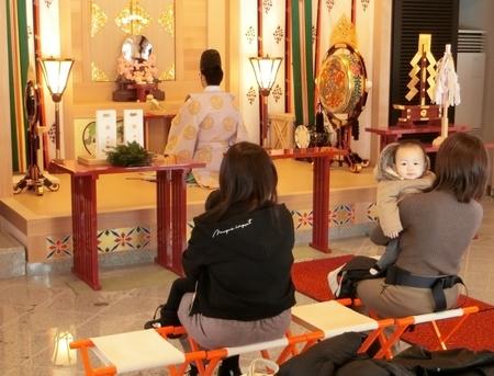 西野神社儀式殿での新年祈祷