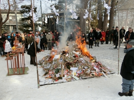 令和2年 西野神社 どんど焼き(点火)