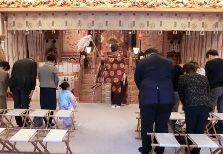 西野神社 御祈祷での修祓