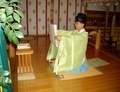 西野神社 御祈祷での祝詞奏上