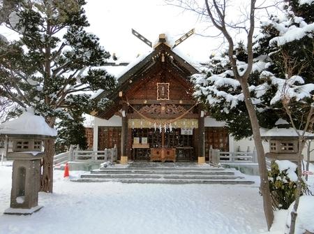 冬の西野神社拝殿