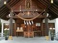 西野神社拝殿向拝と鈴緒