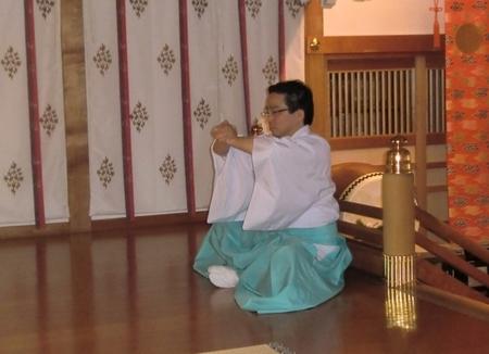 西野神社での鎮魂行法
