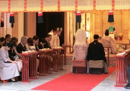 神前結婚式 (西野神社儀式殿)