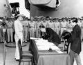 戦艦ミズーリ艦上での降伏文書調印